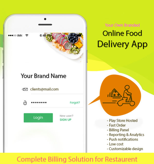 Online Delivery App with Billing Software